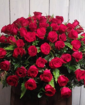 Sympathy & Funeral Flowers: Our classic Blanket of Roses is available in your choice of colors.